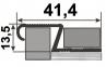 Профіль ПЛ 209 Z-Подібний рифлений 24мм  2