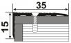 Латунний профіль В-015 (кутовий)  0