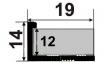 Латунный профиль ЛПГ -12 ( облицовочный гибкий )  0