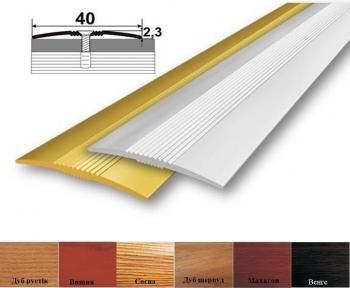 Алюмінієвий стикувальний профіль (прямий) 40мм x 2.3мм АП_012