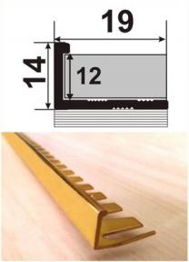 Латунный профиль (облицовочный гибкий) ЛП (Г) -12