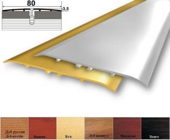 Алюминиевый профиль  А_080  стыковочный (прямой) 80мм x 3.5мм