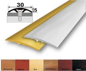 Алюмінієвий профіль АП-016 стикувальний (напівкруглий) 30мм x 5,4мм