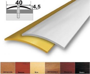 Алюминиевый стыковочный профиль (полукруглый) 39мм х 4,5мм АП_011