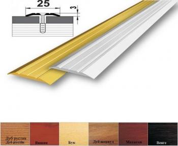 Алюмінієвий профіль АП_003 стикувальний (прямий) 25мм x 3мм