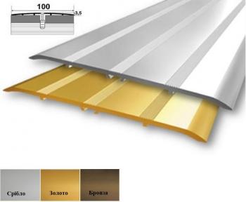 Алюминиевый стыковочный профиль (прямой) 100мм x 2 мм А_100