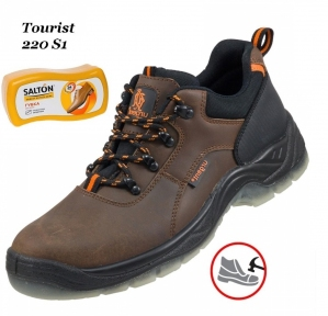 Рабочая обувь с металлическим носком Tourist 220S1 + Губка SALTON в подарок
