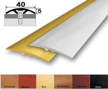 Алюминиевый стыковочный профиль (прямой) 40мм x 5мм АП-013