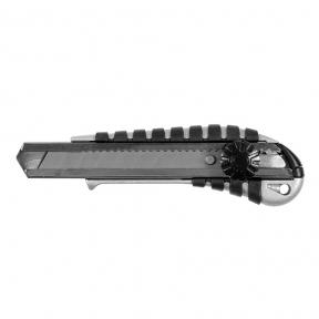 Будівельний ніж (метал/резина)  Sigma 18 мм Гвинтовий замок