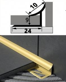 Профиль латунный ВЛП  (угловой внутренний)