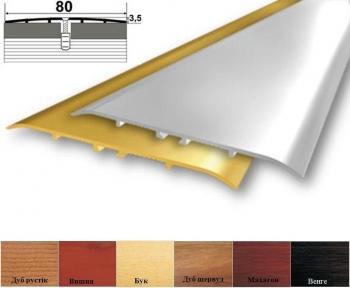 Алюмінієвий стикувальний профіль (прямий) 80мм x 3.5мм А_080