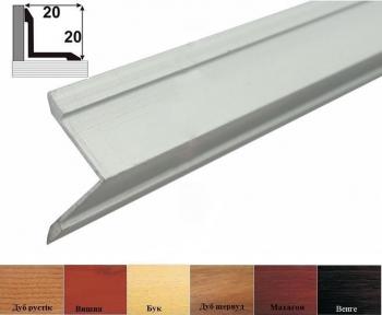 Алюминиевый порожек лестничный (угловой внутренний), 20мм x 20мм АВ20х20