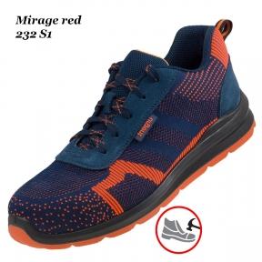 Робоче взуття з металевим носком Mirage red 232S1