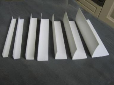 Білий кутовий профіль ПВХ Line Plast