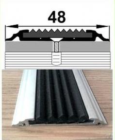 Профиль одноуровневый с резиновой вставкой УЛ-150