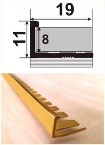 Латунний профіль (облицювальний гнучкий) ЛП(Г)-10