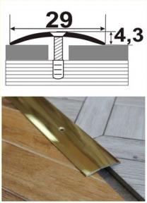 Латунный порожек (одноуровневый) В-003