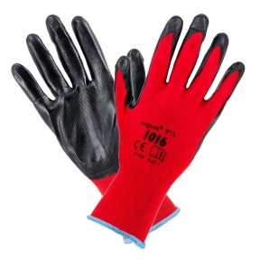 Перчатки защитные красные 1016