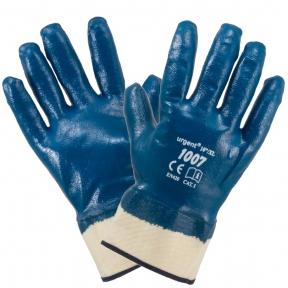 Рукавиці захисні маслостійкі сині 1007