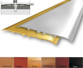 Алюминиевый стыковочный профиль (прямой) 80мм x 3.5мм А_080