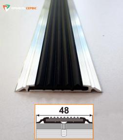 Профіль однорівневий з резиновою вставкою УЛ-150
