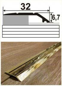 Латунний профіль (перехід) В-014