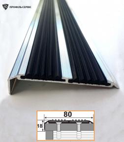 Профіль однорівневий з резиновою вставкою УЛ-152