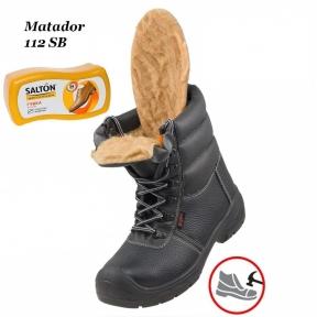 Робоче взуття з металевим носком Matador 112SB Зима + Губка SALTON в подарунок