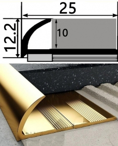 Зовнішній латунний профіль НЛП-10 для плитки