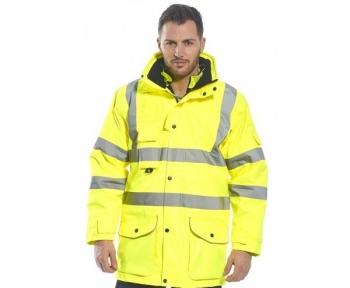 Рабочая сигнальная куртка 7 в 1 Желтая (Польща)