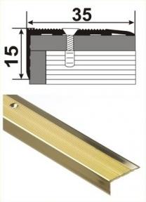 Латунный профиль (угловой) В-015