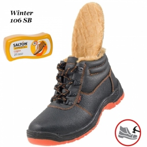 Робоче взуття з металевим носком Winter 106SB Зима + Губка SALTON в подарунок