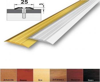 Алюминиевый стыковочный профиль (прямой) 25мм x 3мм АП_003