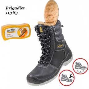 Робоче взуття з металевим носком (Зима) Brigadier  113S3 + Губка SALTON в подарунок