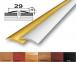 Алюминиевый стыковочный профиль (полукруглый) 29мм х 4,5мм АП_004
